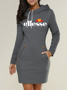 b67dea78 Ellesse Printed Hooded Mini Dress