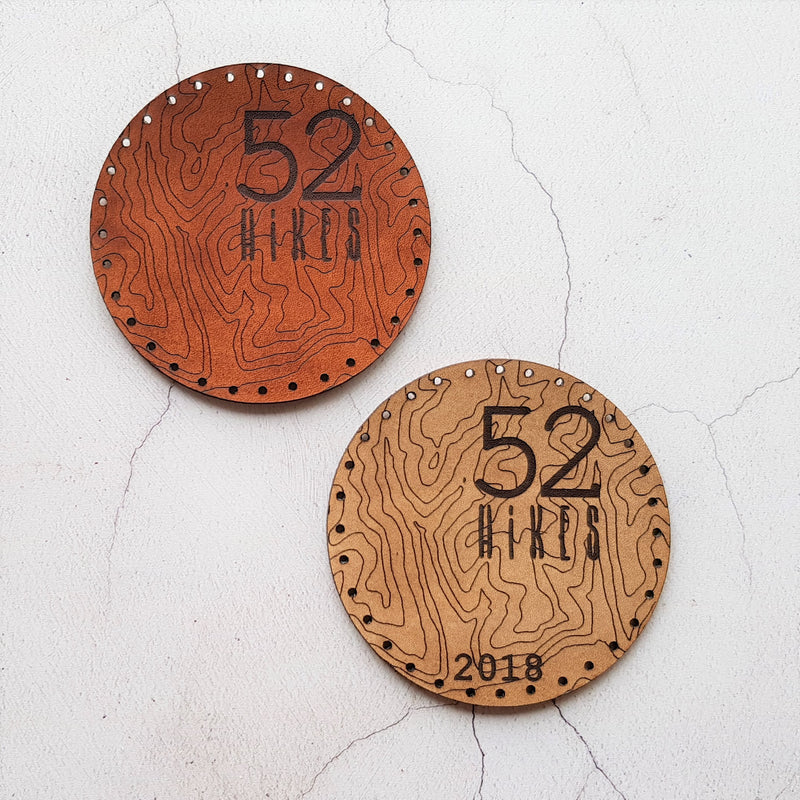Custom leather  hiking patches