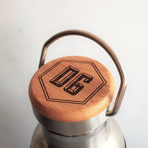 The bamboo lid of the HORD adventure bottle can be personalised with initials, making a wonderful and unique gift for any occasion.