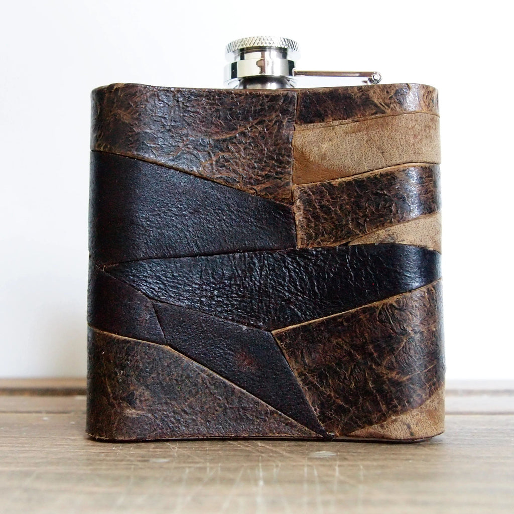 The Desert Leather Flask-Hip Flask-HÔRD