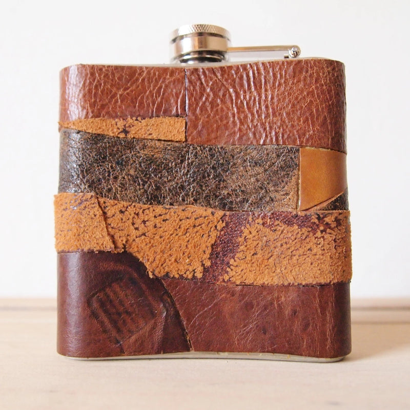 The Distressed Leather Flask-Patch-HÔRD
