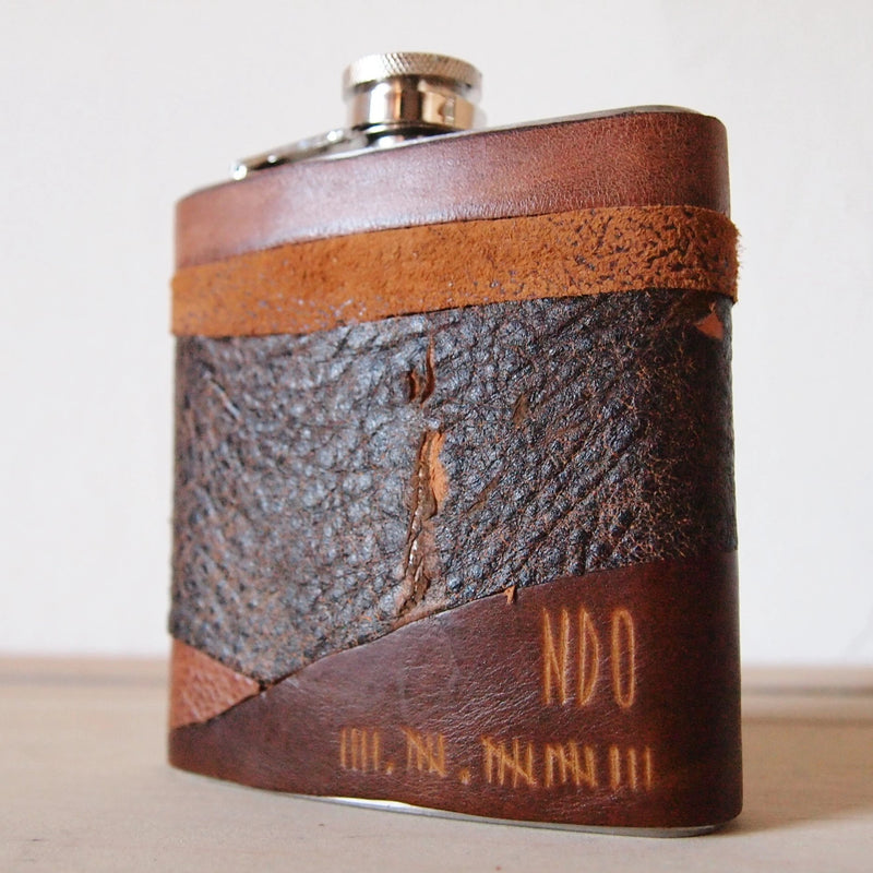 The Apocalypse Leather Hip Flask-Hip Flask-HÔRD