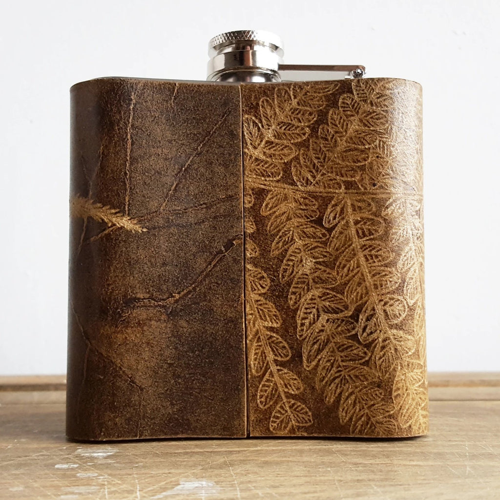 The Fern Leaf Flask-Hip Flask-HÔRD