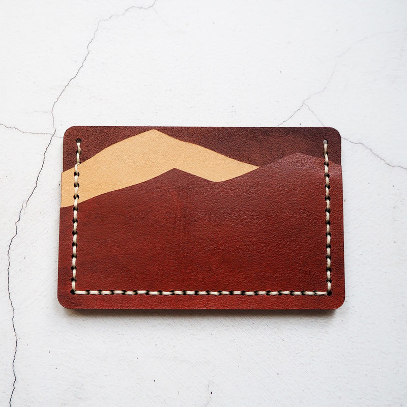 The Colour and Natural Mountain Card Holder by Hord