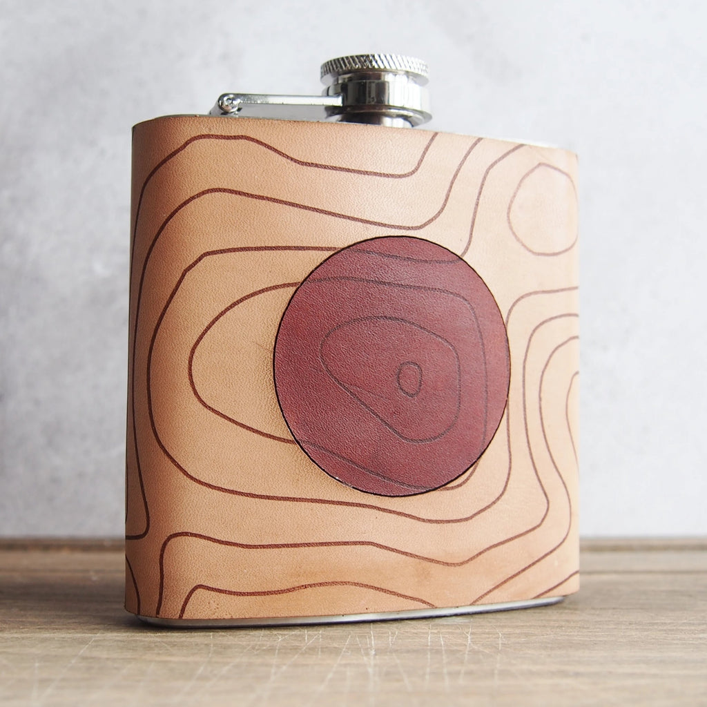 The Scafell Pike Topographic Flask-Hip Flask-HÔRD