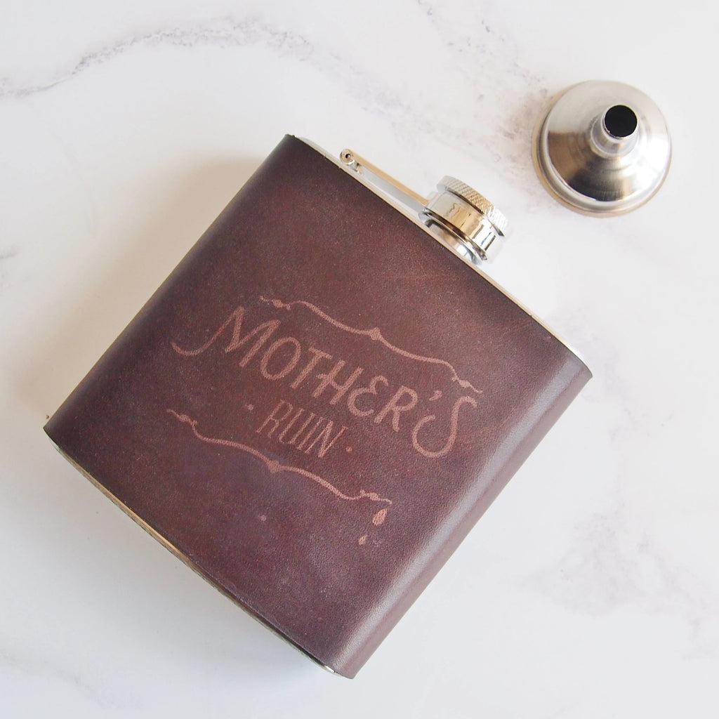 The Mother's Ruin Flask-Hip Flask-HÔRD