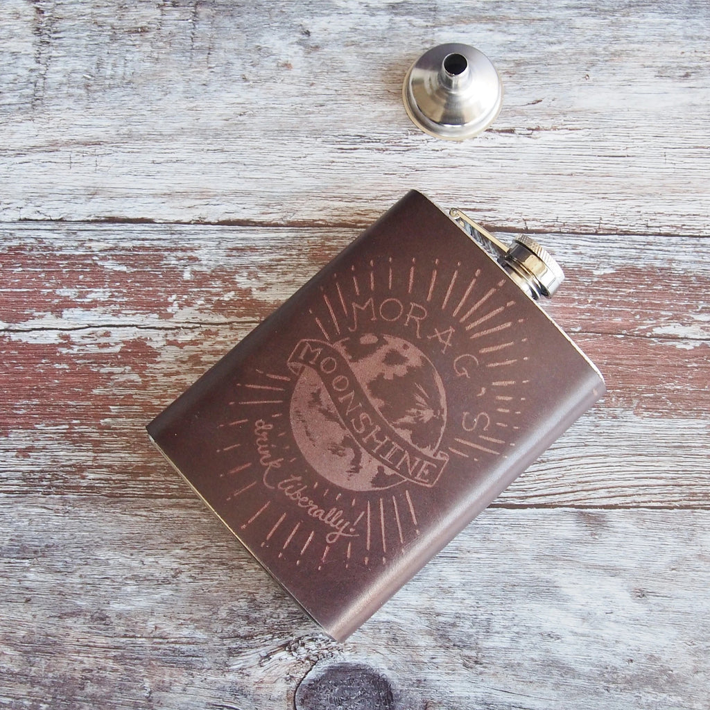 The Moonshine Hip Flask-Hip Flask-HÔRD