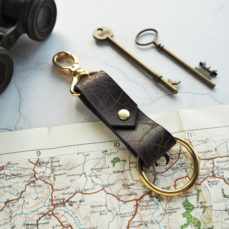 The Custom Road Map key fob is personalised with your choice of location. By Hord