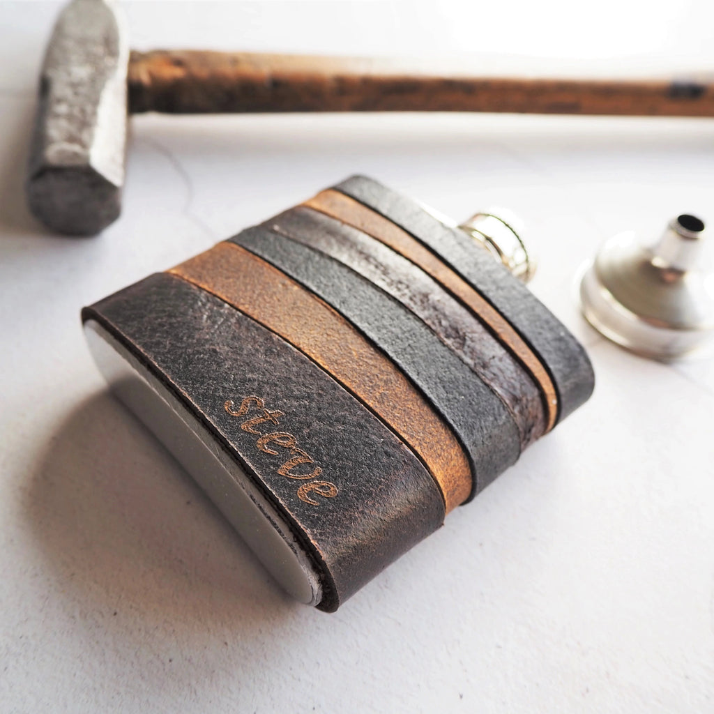 The Highland Leather Flask-Hip Flask-HÔRD