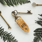 The Rof Cork Key Fob by HORD is made from sturdy natural cork and a metal clip - This item can be engraved with your chosen initials!