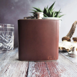 The Oxblood Leather Hip Flask-Hip Flask-HÔRD