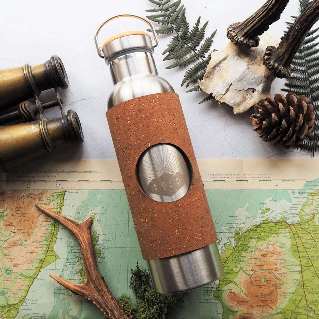 HORD, The Adventure Bottle, Sand coloured cork, £50.00 - insulated vacuum flask 600ml, BPA free