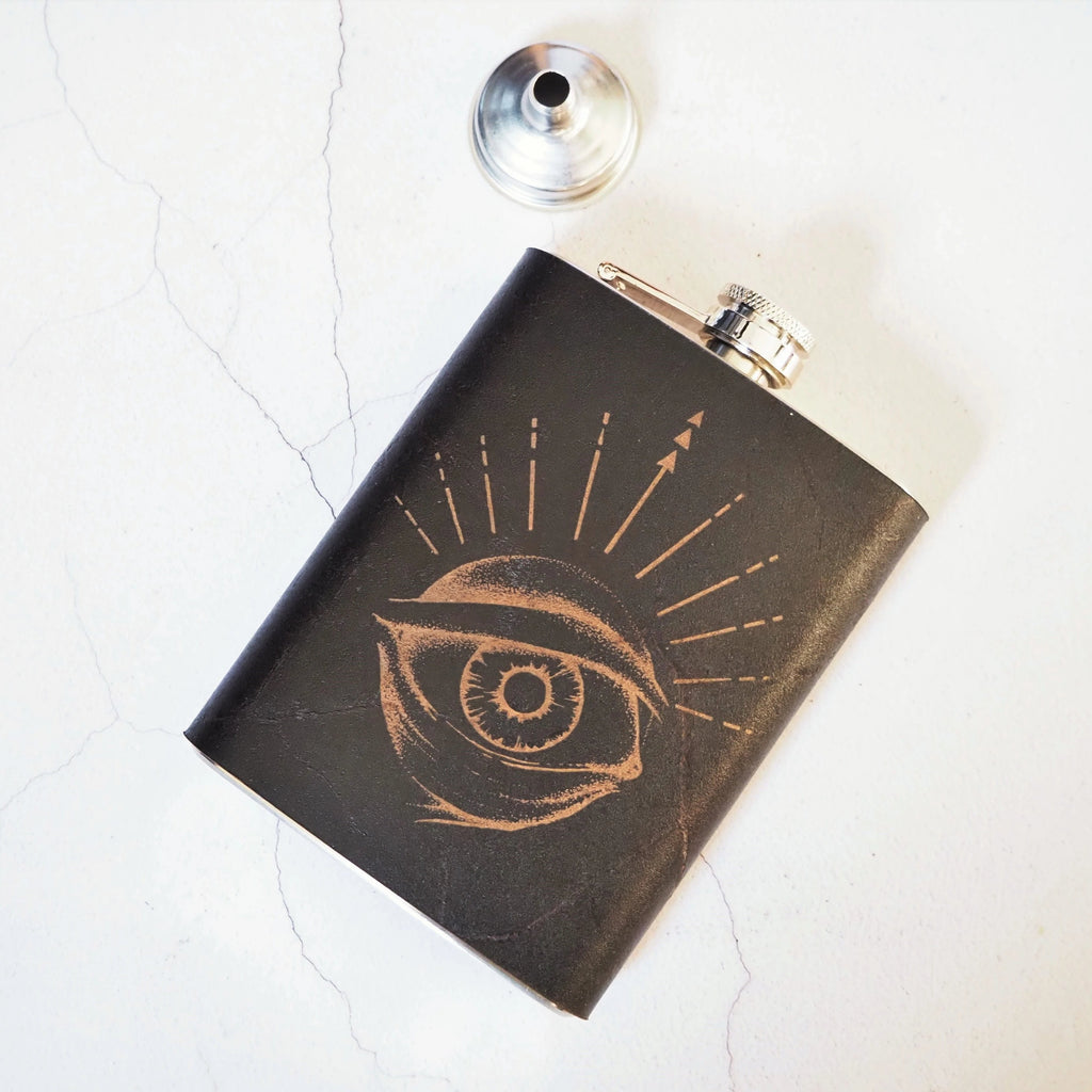 The Eye of Odin Flask-Hip Flask-HÔRD