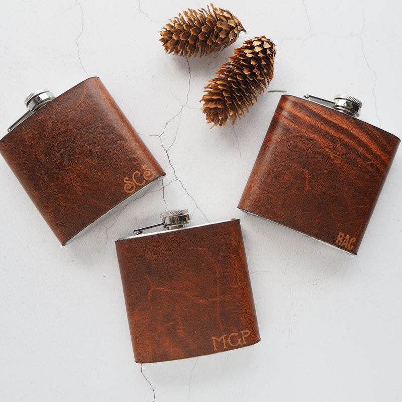 The Rust Leather Flask-Hip Flask-HÔRD