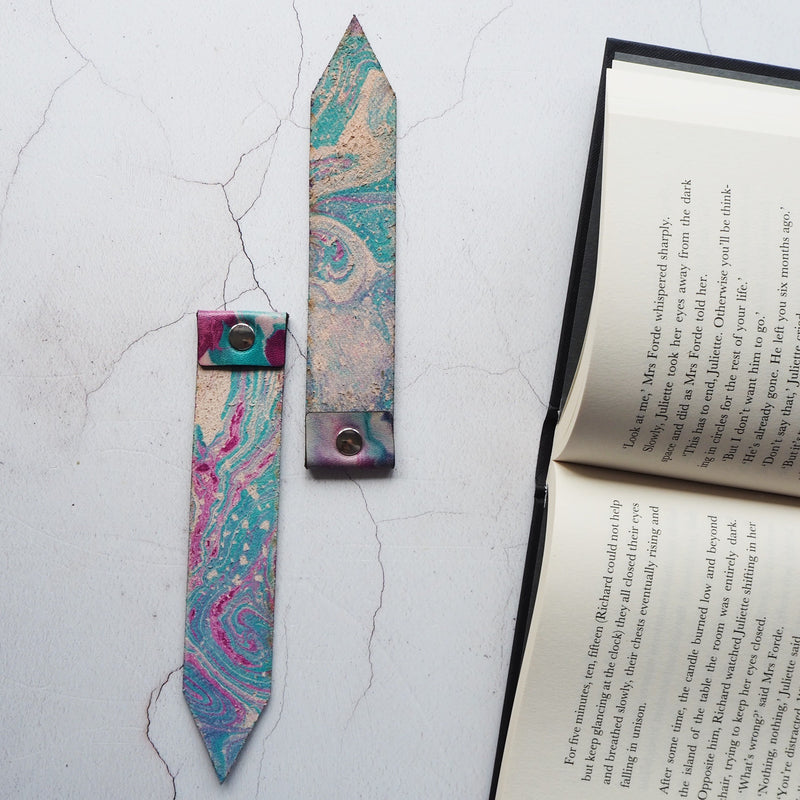 The Nebula Leather Bookmark-New In-HÔRD