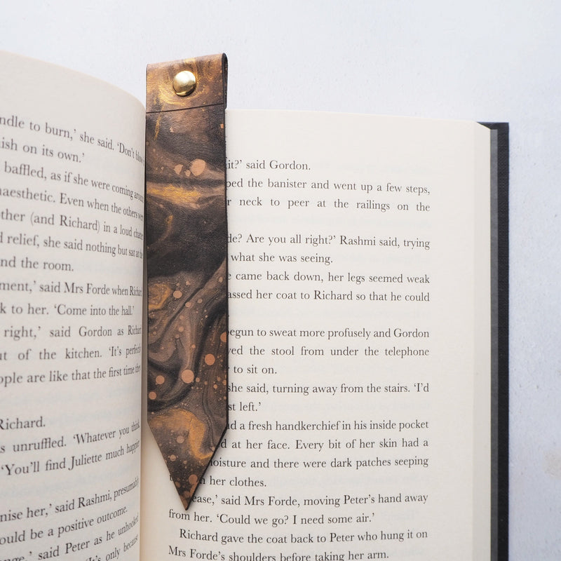 The Cosmos Leather Bookmark