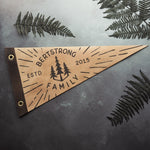 The Family Pennant, perfect for your hallway this pennant celebrates your family stronghold, by Hord.