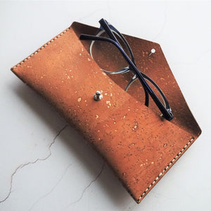 The Cork Glasses Case by HORD is a sturdy pouch that can be used for your glasses, pens and pencils, make-up and small trinkets.
