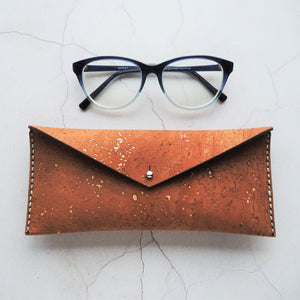 Cork Glasses Case by HORD - A textural reddish brown cork makes a safe home for your glasses. A perfect gift for those who can't go anywhere without their specs.