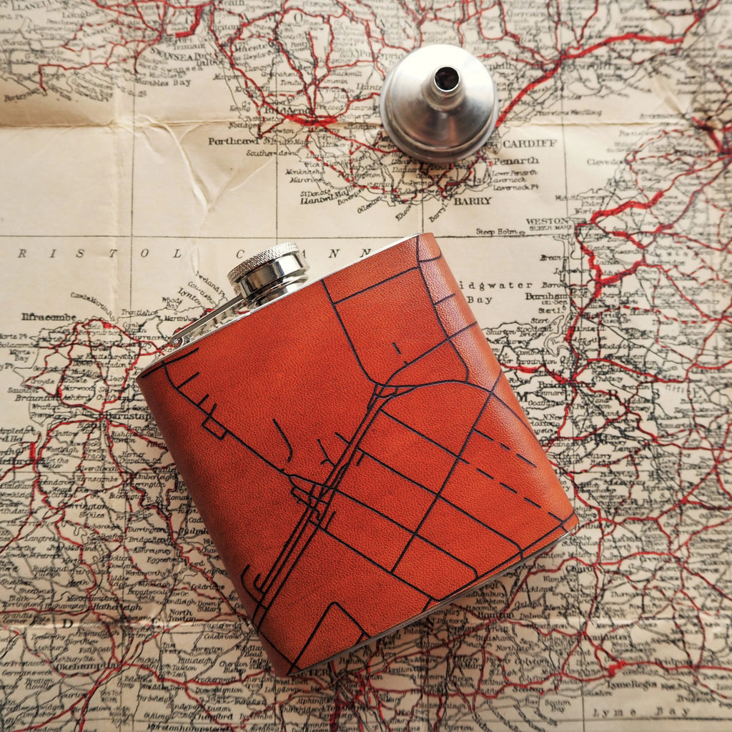 Personalised Road Map Flask-New In - Hip Flask-HÔRD
