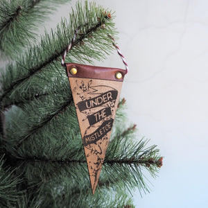 Under the Mistletoe Christmas Pennant, perfect for the Christmas Tree
