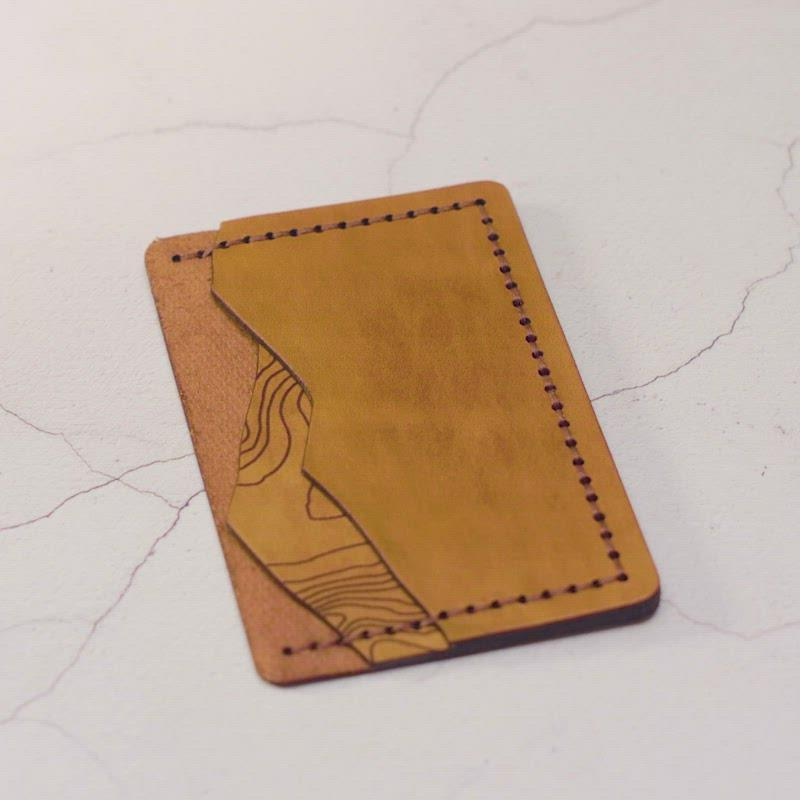 Custom Topography Card Holder