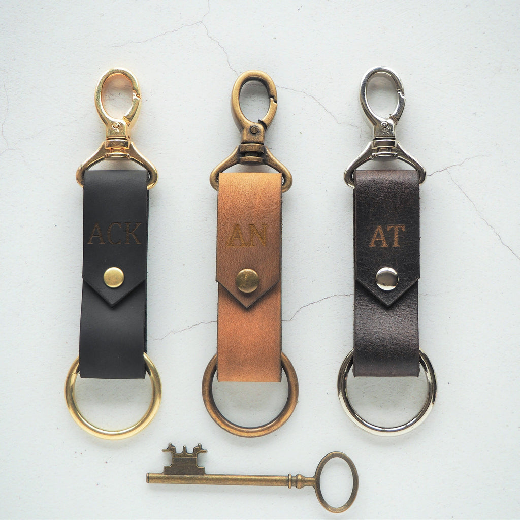 The Halda Leather Key Fob is available in a variety of supple and soft leathers and hardware colours. By Hord