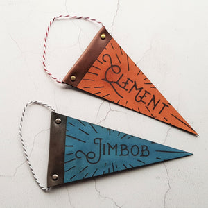 The Small Nursery Pennant. Perfect to hang off your nursery wall or door, by Hord.