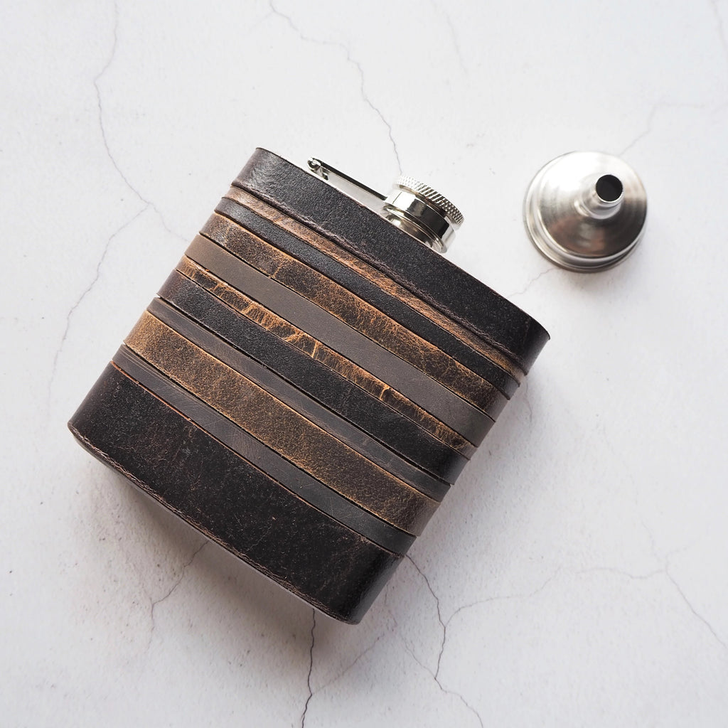 The Peat Layers Flask-Hip Flask-HÔRD