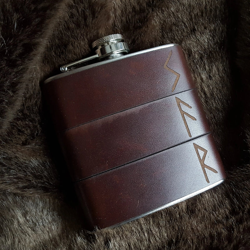 The Viking Rune Hip Flask-Hip Flask-HÔRD