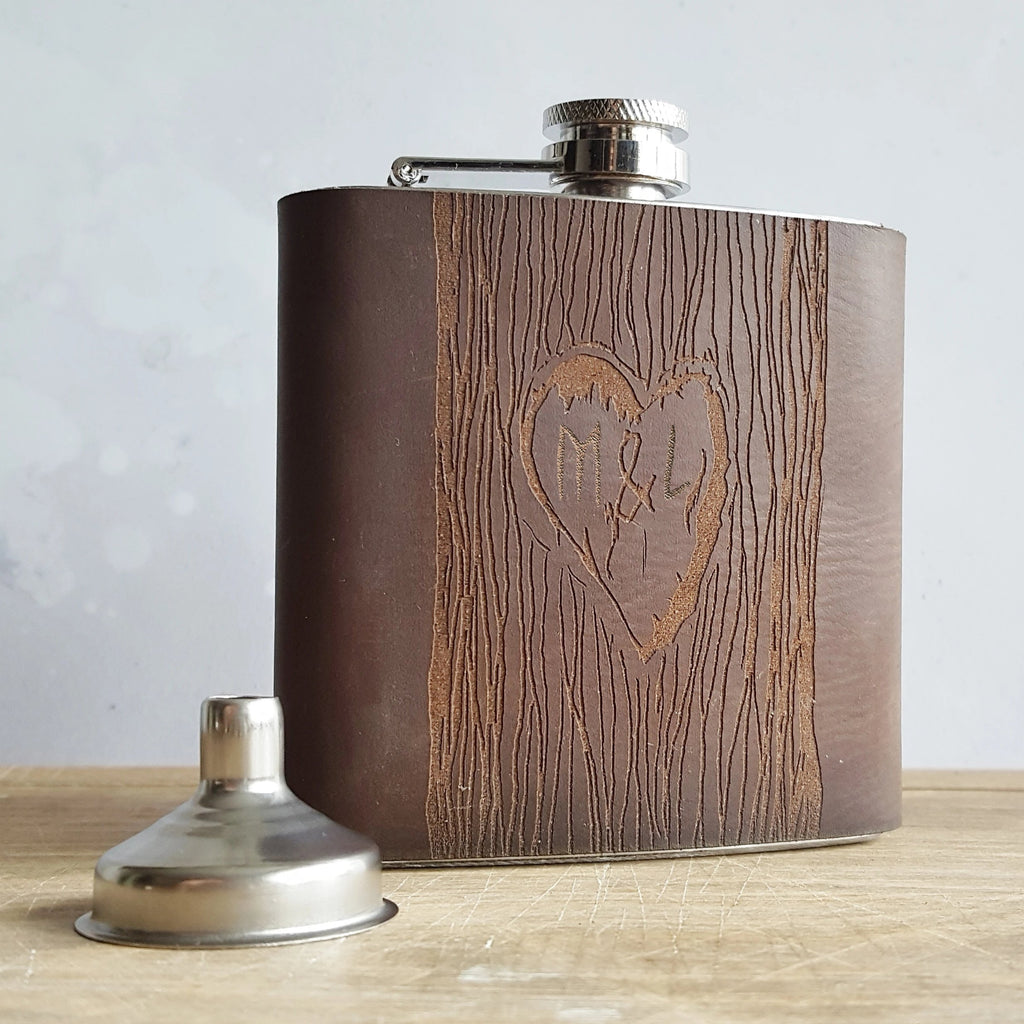 The Carved Tree Hip Flask-Hip Flask-HÔRD