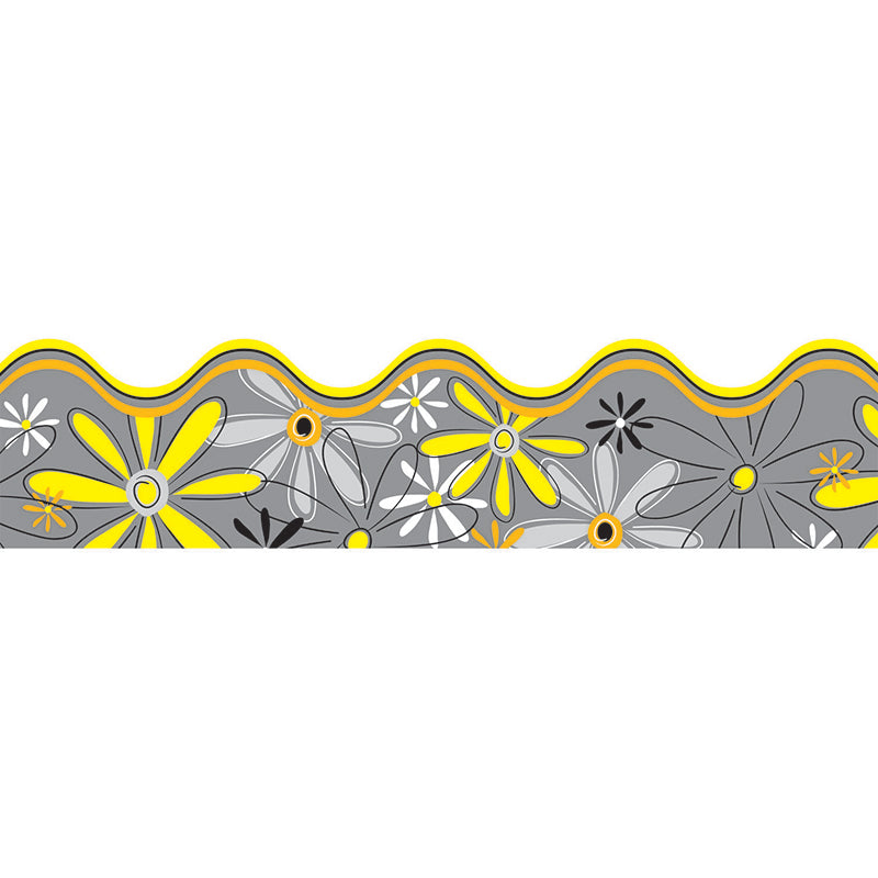 Delightful Daisies Scalloped Borders, 39 Feet - Item 4SS-CD-108079