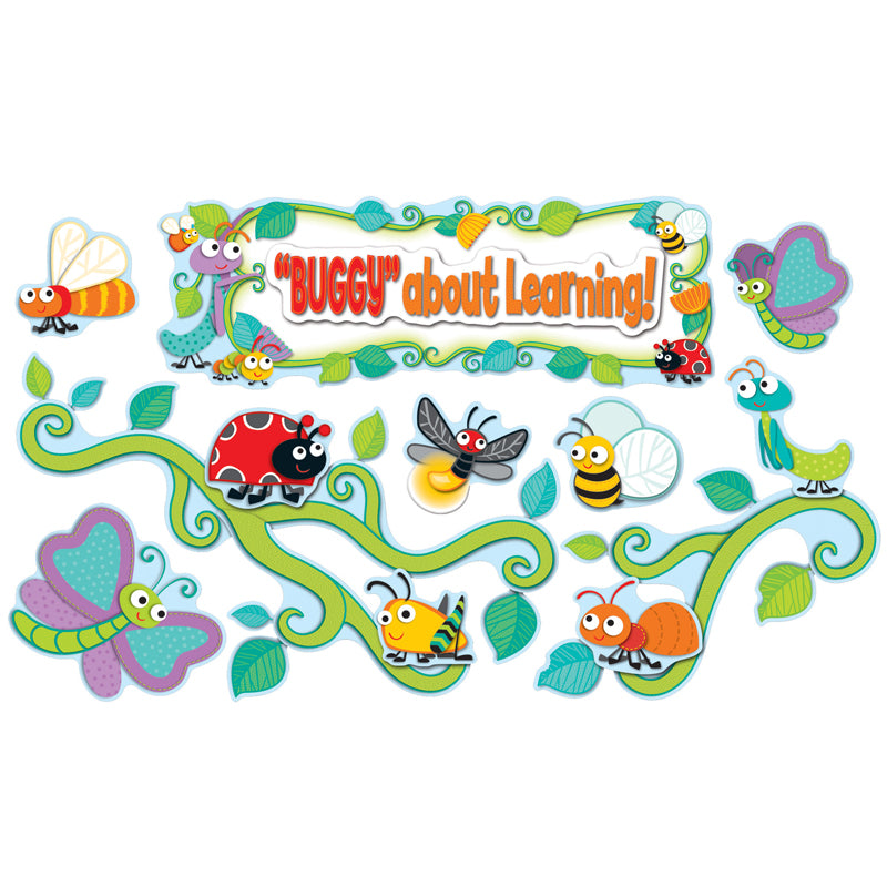 """Buggy"" For Bugs Bulletin Board Set - Item 4SS-CD-110238"