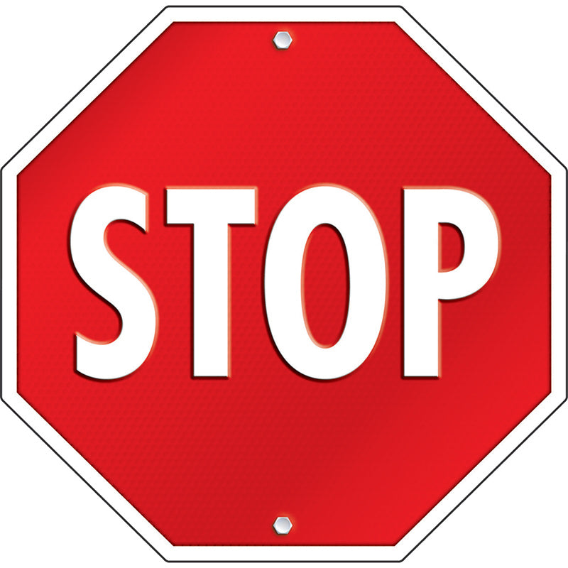 Stop Sign Two-Sided Decoration - Item 4SS-CD-188026