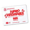 Jumbo Washable Unscented Stamp Pad, Red - Item 4SS-CE-5505