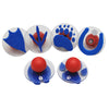 Ready2Learn Giant Stampers, Paw Prints, 6/Set - Item 4SS-CE-6761