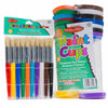 Paint Cups & Round Stubby Bush Set, Assorted Colors, 10/Set - Item 4SS-CHL73000
