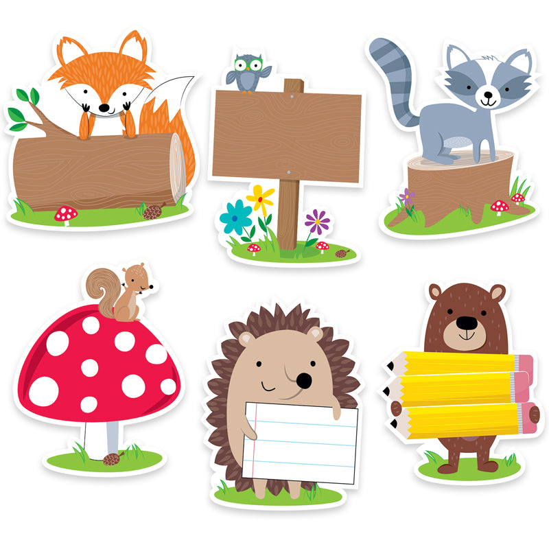 "Woodland Friends 6"" Designer Cut-Outs, 36 Per Pack, 3 Packs - Item 4SS-CTP6099BN"