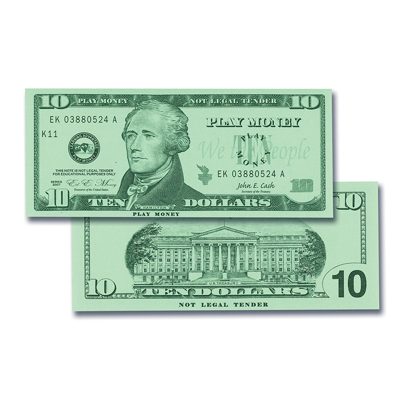 $10 Bills Set, Set Of 100 - Item 4SS-CTU7509