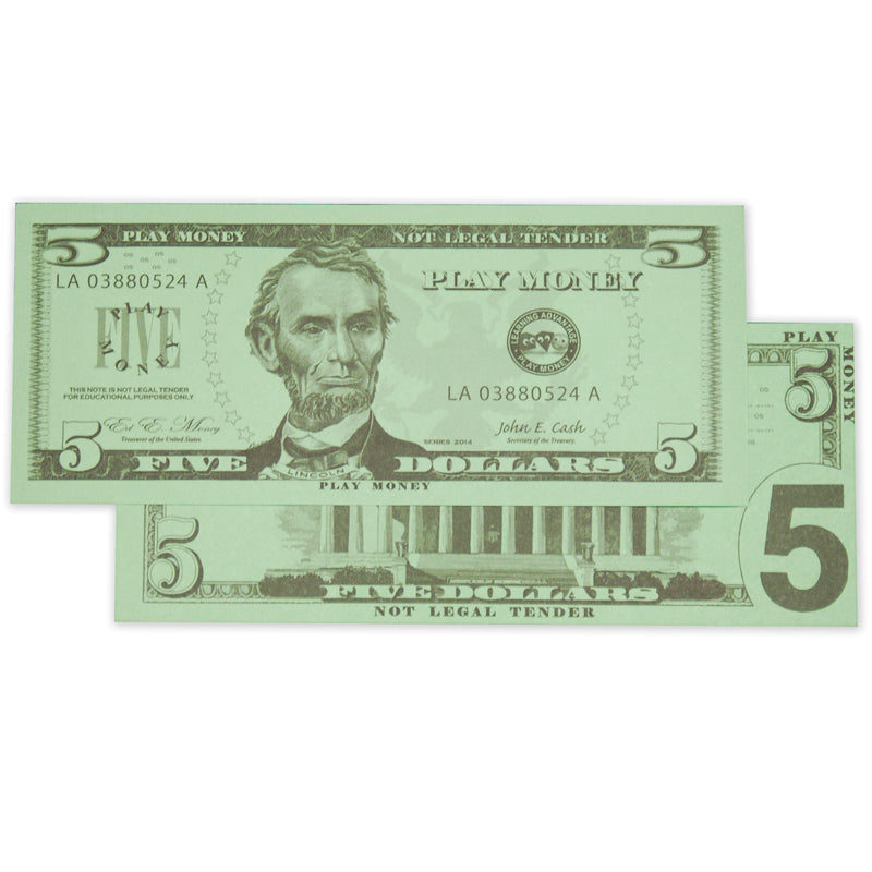$5 Bills, Set Of 100 - Item 4SS-CTU7519