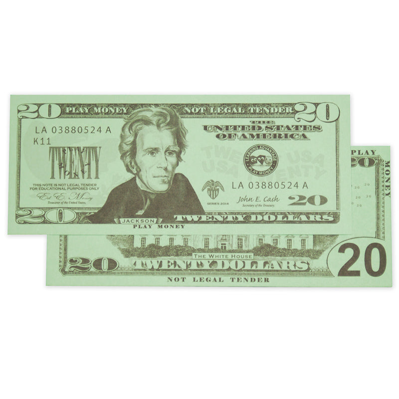 $20 Bills, Set Of 100 - Item 4SS-CTU7529