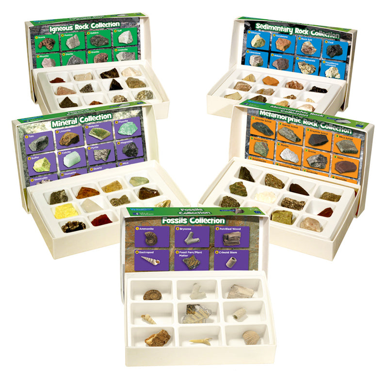 Geosafari Complete Rock, Mineral, & Fossil Collections, Set Of 57 - Item 4SS-EI-5210