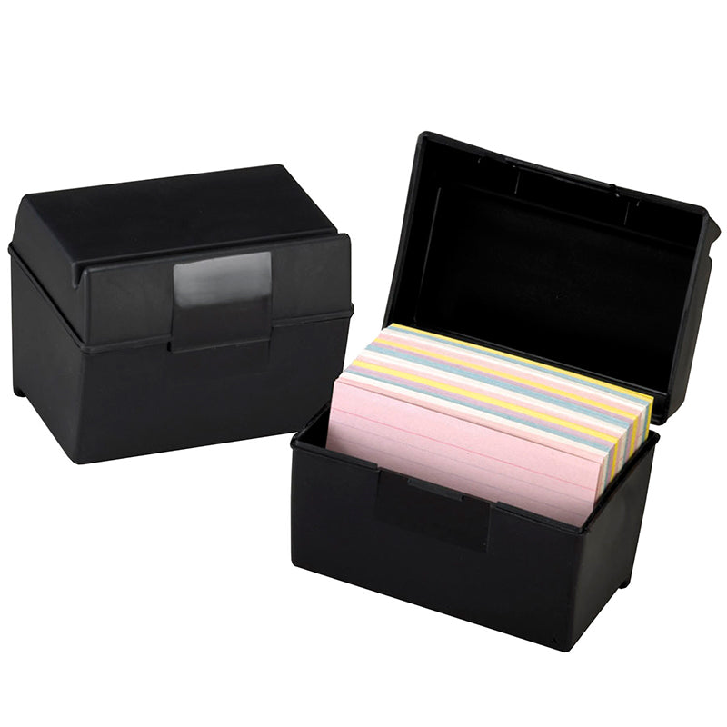 "Oxford Plastic Index Card Box, 4"" X 6"" - Item 4SS-ESS01461"