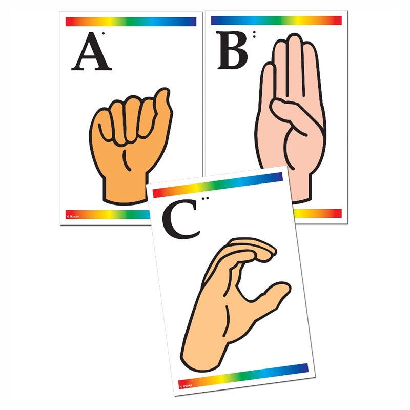 Sign Language & Braille Learning Cards - Item 4SS-IF-23004