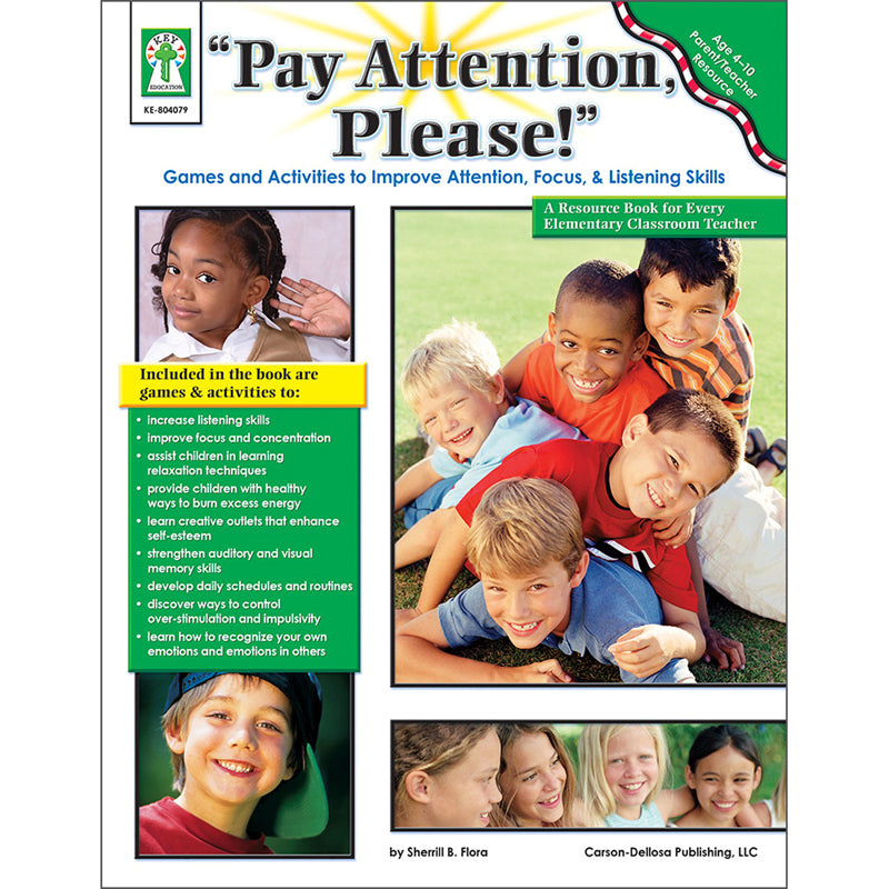"""Pay Attention, Please!"" Resource Book - Item 4SS-KE-804079"