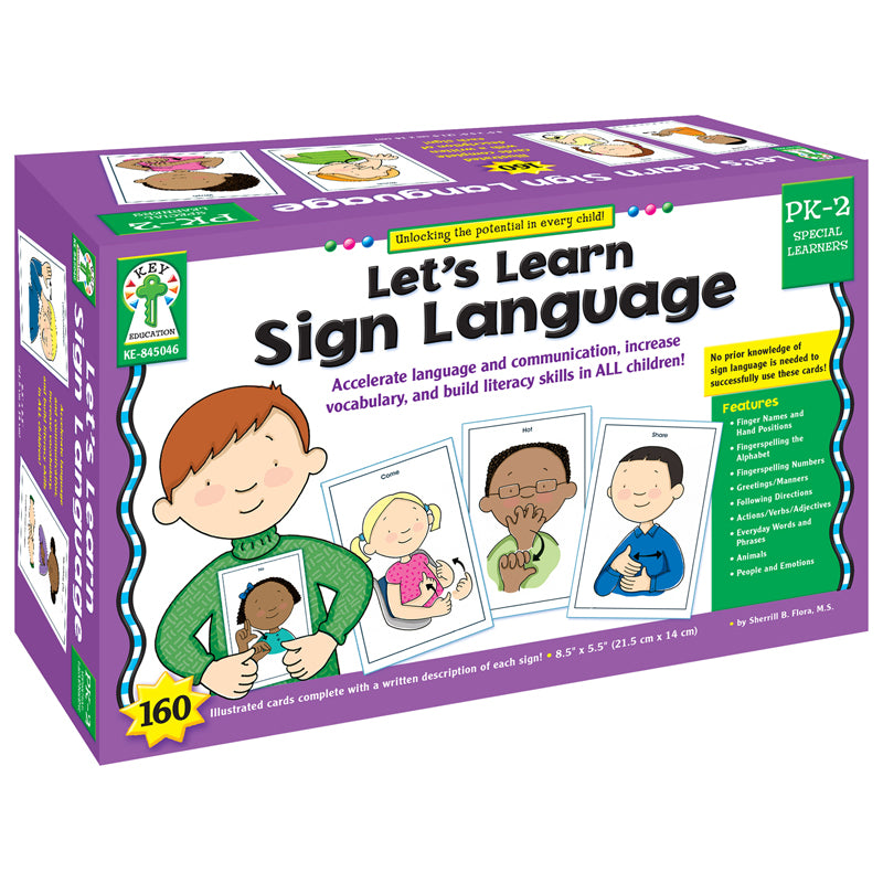 Let'S Learn Sign Language Learning Cards - Item 4SS-KE-845046