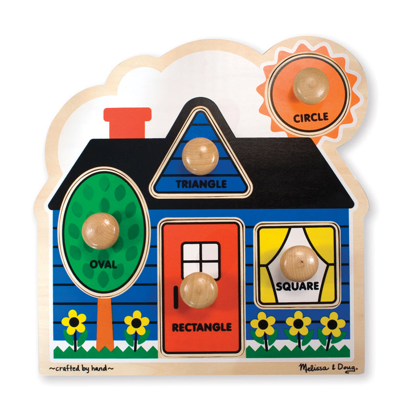 "First Shapes Jumbo Knob Puzzle, 12"" X 12"", 5 Pieces - Item 4SS-LCI2053"