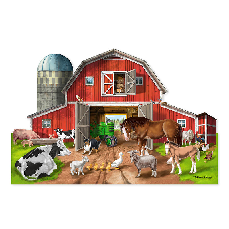 Busy Barn Yard Shaped Floor Puzzle - 32 Pieces - Item 4SS-LCI2923