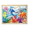 "Under The Sea Wooden Jigsaw Puzzle, 12"" X 16"", 24 Pcs - Item 4SS-LCI2938"