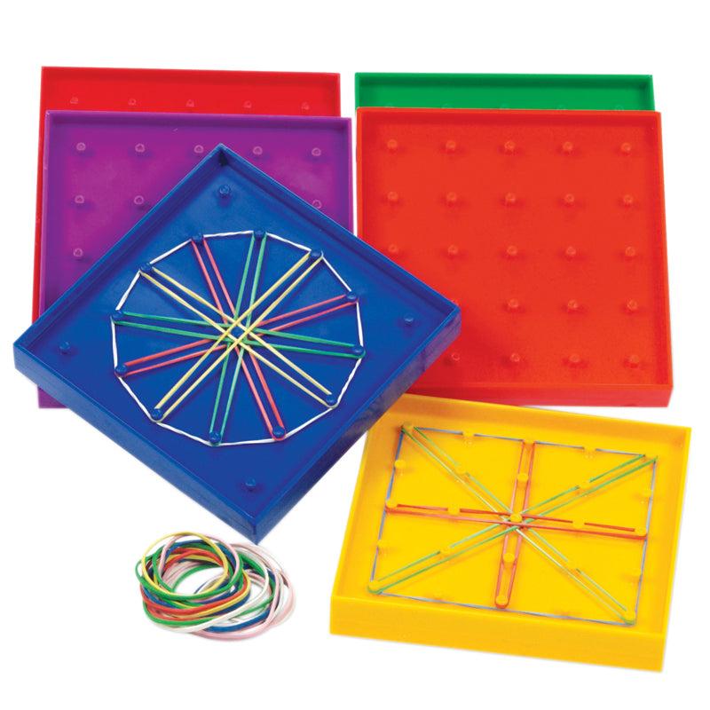Double-Sided Rainbow Geoboards - Item 4SS-LER0425